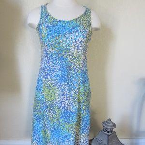 J.Jill size 4 Blue floral sleeveless dress